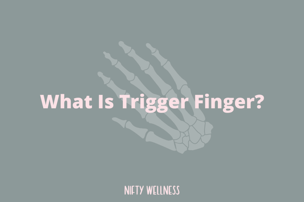 How do you reverse trigger finger naturally